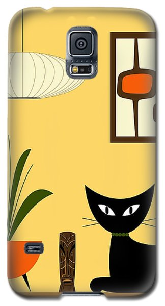 Cat On Tabletop With Mini Mod Pods 3 Galaxy S5 Case