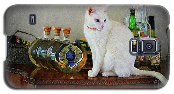Cat On The Liquor Cabinet Galaxy S5 Case