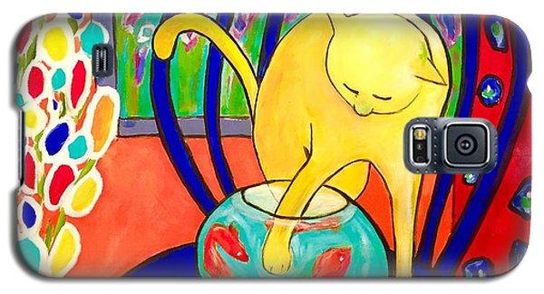 Cat - Tribute To Matisse Galaxy S5 Case