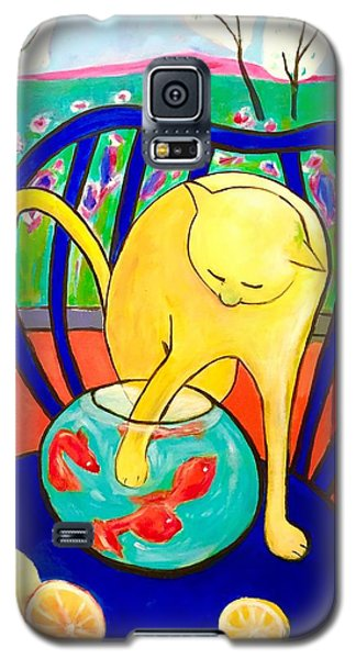 Cat - Tribute To Matisse Galaxy S5 Case