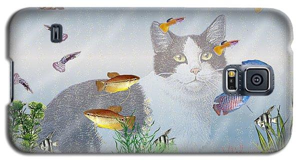 Cat Watching Fishtank Galaxy S5 Case by Terri Mills