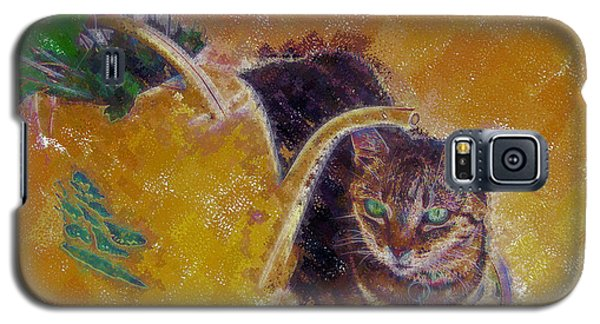 Cat With Watering Can Galaxy S5 Case