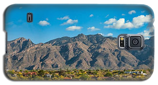 Galaxy S5 Case featuring the photograph Catalina Mountain Panorama by Dan McManus