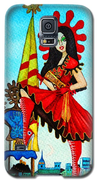 Galaxy S5 Case featuring the painting Catalan Girl In Converse by Don Pedro De Gracia
