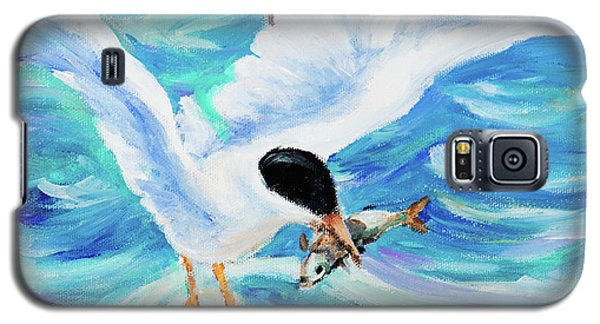 Galaxy S5 Case featuring the painting Catch by Igor Postash