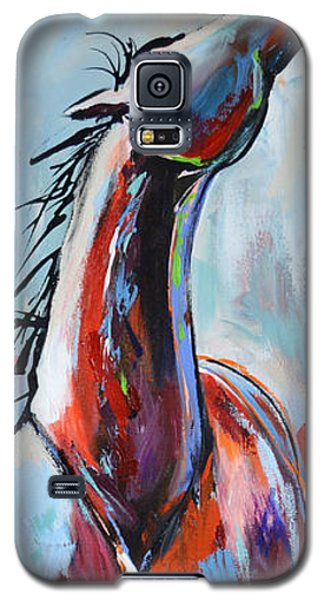 Galaxy S5 Case featuring the painting Catching Wind by Cher Devereaux