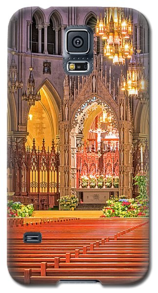 Galaxy S5 Case featuring the photograph Cathedral Basilica Of The Sacred Heart Newark Nj by Susan Candelario