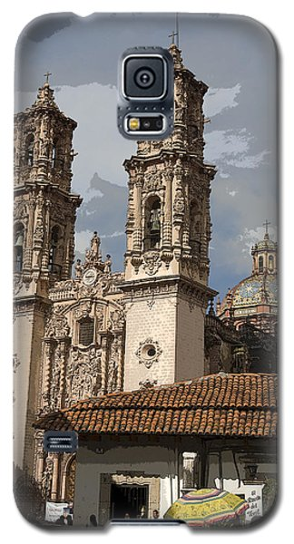 Galaxy S5 Case featuring the photograph Cathedral In Taxco Mexico by Carl Purcell