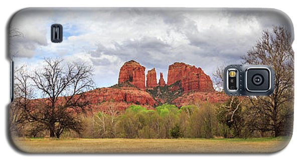 Galaxy S5 Case featuring the photograph Cathedral Rock Panorama by James Eddy