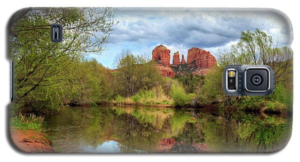 Galaxy S5 Case featuring the photograph Cathedral Rock Reflection by James Eddy