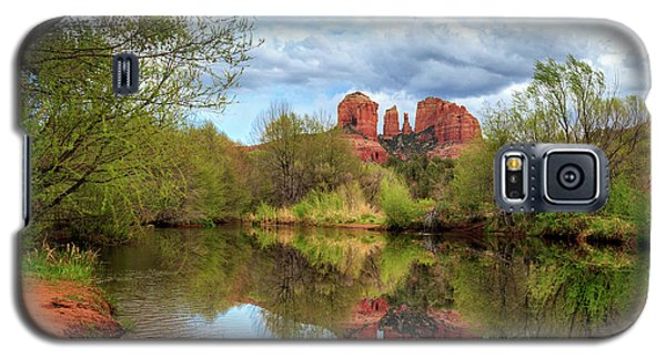Cathedral Rock Reflection Galaxy S5 Case by James Eddy