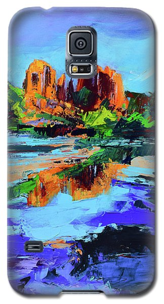 Galaxy S5 Case featuring the painting Cathedral Rock - Sedona by Elise Palmigiani