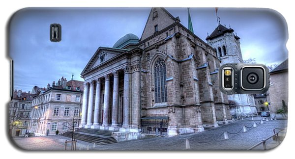 Cathedral Saint-pierre, Peter, In The Old City, Geneva, Switzerland, Hdr Galaxy S5 Case by Elenarts - Elena Duvernay photo
