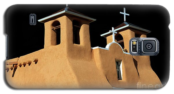 Galaxy S5 Case featuring the photograph St Francis De Assi Church  New Mexico by Bob Christopher