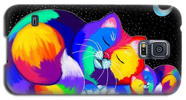Galaxy S5 Case featuring the drawing Catnaps For Two by Nick Gustafson