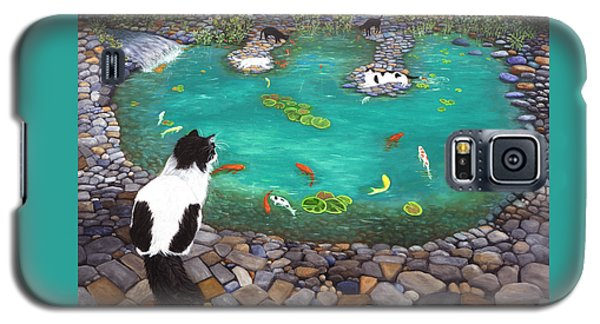 Cats And Koi Galaxy S5 Case