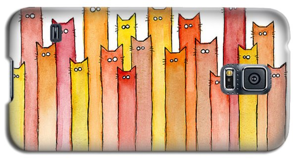 Cats Autumn Colors Galaxy S5 Case by Olga Shvartsur
