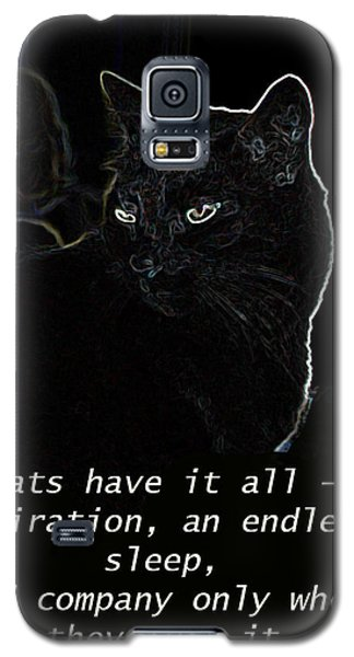 Galaxy S5 Case featuring the mixed media Cats Have It All by Charles Shoup