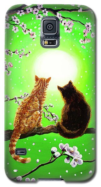 Cats On A Spring Night Galaxy S5 Case by Laura Iverson