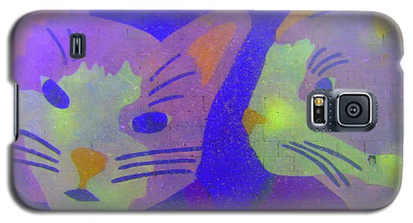 Galaxy S5 Case featuring the photograph Cats On A Wall by John King
