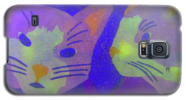 Cats On A Wall Galaxy S5 Case by John King