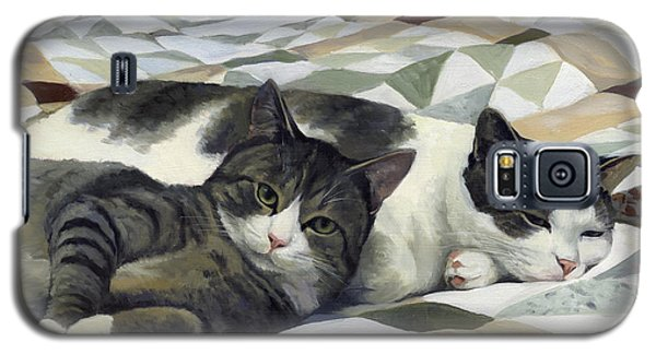 Cats On The Quilt Galaxy S5 Case by Alecia Underhill