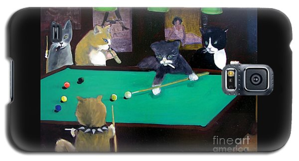 Cats Playing Pool Galaxy S5 Case
