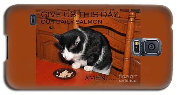 Cat's Prayer Revisited By Teddy The Ninja Cat Galaxy S5 Case
