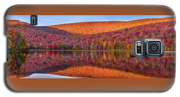 Galaxy S5 Case featuring the photograph Catskills Panorama 1 by Mark Papke