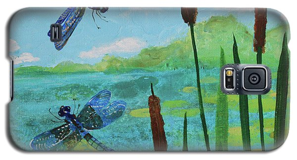 Cattails And Dragonflies Galaxy S5 Case