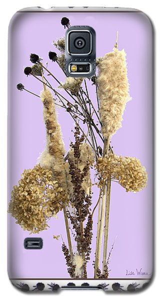 Galaxy S5 Case featuring the digital art Cattails And November Flowers by Lise Winne
