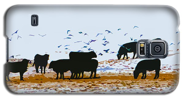 Cattle And Birds Galaxy S5 Case