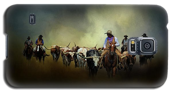 Cattle Drive At Dawn Galaxy S5 Case