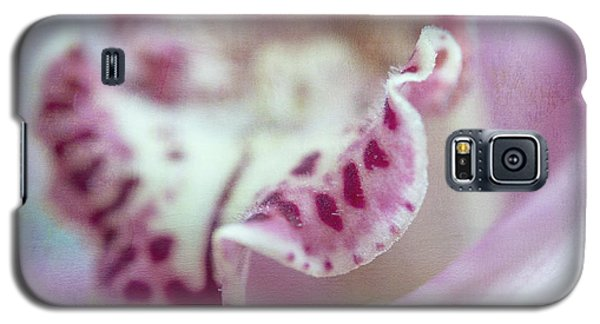 Galaxy S5 Case featuring the photograph Cattleya Orchid Abstract 2 by Jenny Rainbow