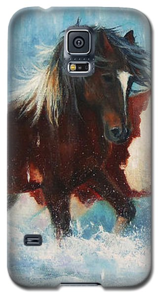 Caught In The Rain  Close Up Galaxy S5 Case by Karen Kennedy Chatham