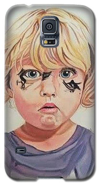 Galaxy S5 Case featuring the painting Caught With A Makeup-mess-mila by Kevin F Heuman