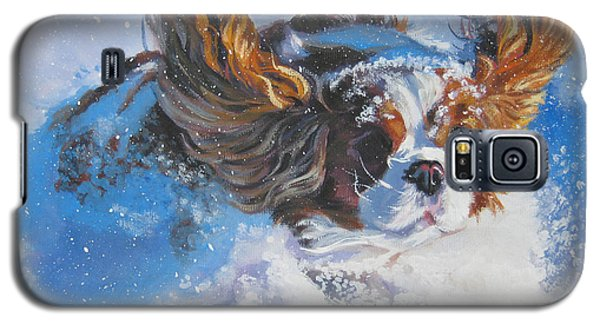 Cavalier King Charles Spaniel Blenheim In Snow Galaxy S5 Case