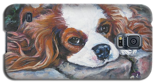 Cavalier King Charles Spaniel In The Pansies  Galaxy S5 Case
