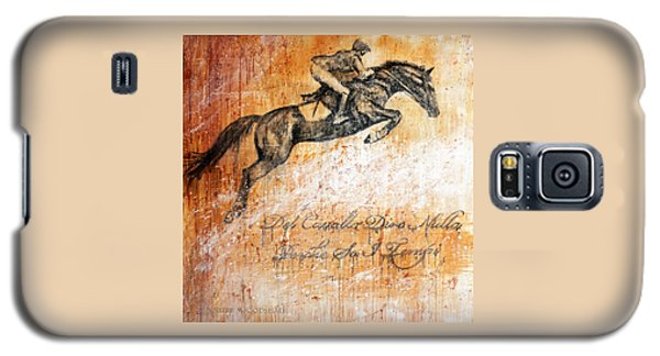 Cavallo Contemporary Horse Art Galaxy S5 Case by Jennifer Godshalk