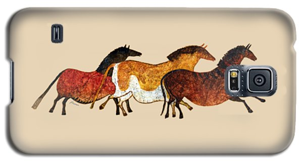 Cave Horses In Beige Galaxy S5 Case