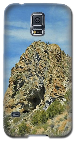 Galaxy S5 Case featuring the photograph Cave Rock At Tahoe by Benanne Stiens