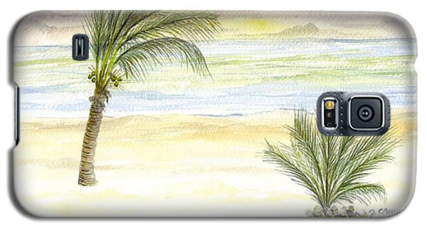 Galaxy S5 Case featuring the digital art Cayman Beach by Darren Cannell
