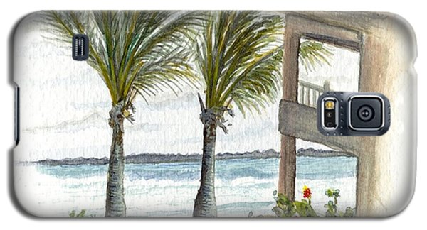 Galaxy S5 Case featuring the digital art Cayman Hotel by Darren Cannell