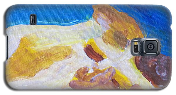 Galaxy S5 Case featuring the painting Cc The Cat by Shea Holliman