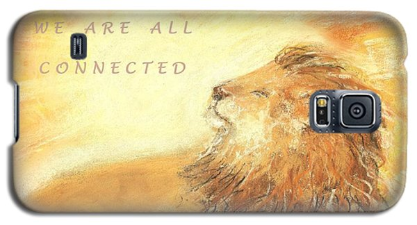 Galaxy S5 Case featuring the drawing Cecil The Lion by Denise Fulmer