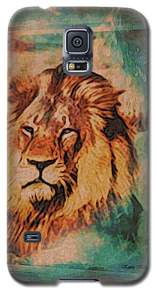 Galaxy S5 Case featuring the digital art Cecil The Lion by Kathy Kelly