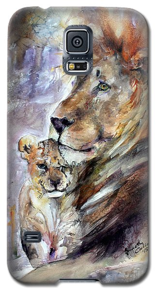 Galaxy S5 Case featuring the painting Cecil The Patriarch No More by Ginette Callaway