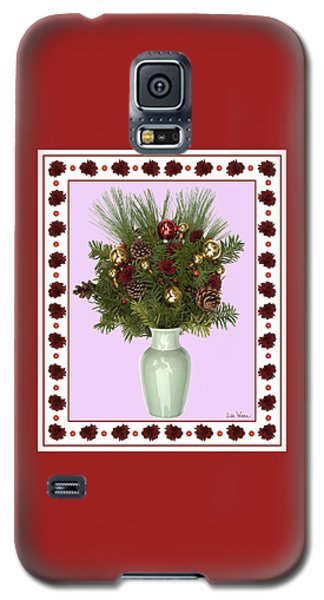 Celadon Vase With Christmas Bouquet Galaxy S5 Case