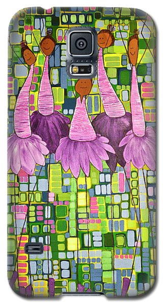 Galaxy S5 Case featuring the painting Celebrate by Donna Howard