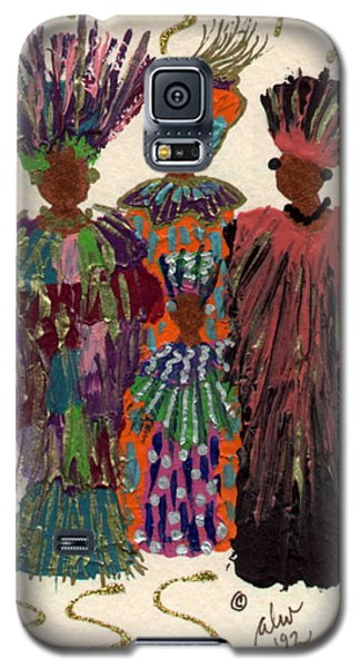 Galaxy S5 Case featuring the mixed media Celebration by Angela L Walker